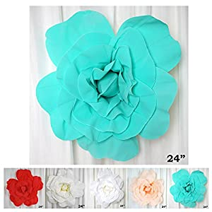 "Efavormart 24"" Real Touch Blush Artificial Foam 3D Craft Rose for Wall Backdrop Decor 4"