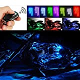 VK-SYTEC Motorcycle Water-Proof 96 LED Light Strips Multi-Color Accent Glow Lights with Remote Controller (Pack of 8)