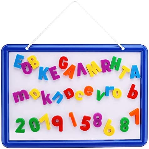 and Symbols for Fun Educational Learning 109 Piece Magnetic Letters Kid/'s Dry Erase Board and Magnet Set Numbers Hanging Whiteboard for Home by EduKids Kindergarten Preschool