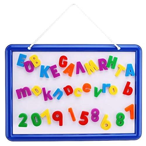 edukid toys 36 magnetic art board 109 letter numbers