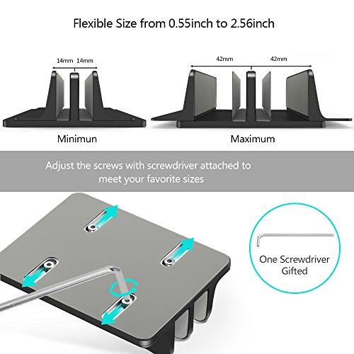 Double slot Vertical Stand mount Holder for MacBook//laptop//chromebook//tablet