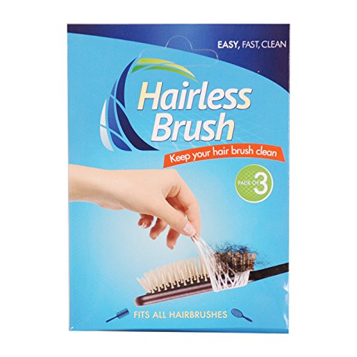 Hairless Brush, Easy Way to Keep Your Brushes Clean; Fits All Brush. (Pack of 3)