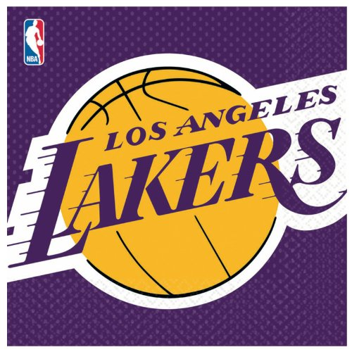 Amscan Los Angeles Lakers Basketball - Lunch Napkins (16) ()