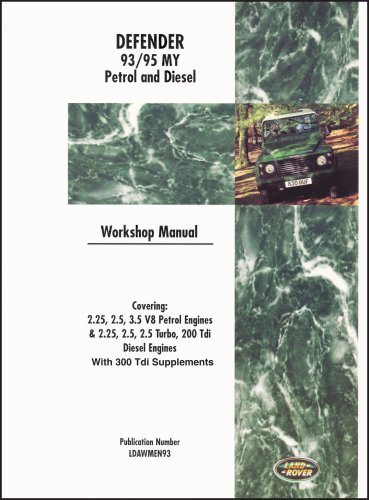 Land Rover Defender 1993-95 Petrol & Diesel WSM Including 300 Tdi Engine, Gearbox & Transfer Box Overhaul Manuals: Part No. B-LRD3DWH
