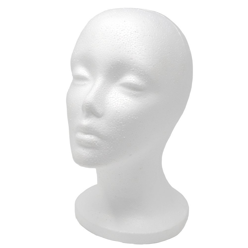 "A1 Pacific Female Styrofoam Mannequin Head, 11"" L"