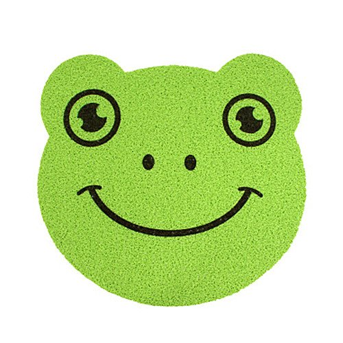 Green Frog Outdoor Furniture (Ustide Anti-skid PVC Kids Bathroom Rug Cute Fruit Green Frog Massage Mat Indoor and Outdoor Rug Toilet Tub Mat)
