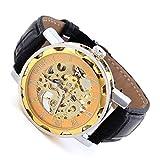 EnterSandman fashion Men'S Mechanical Hot Watches Goer Skeleton Luxury Quartz Business Watches Leather Strap Watch New Arrival 2015