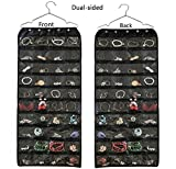 Brotrade Hanging Jewelry Organizer,Accessories Organizer,Oxford 80 Pocket Organizer For Holding Jewelries (Black)