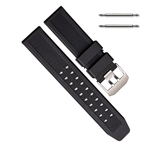 Replacement Luminox 23mm Watch Rubber Band Strap with Spring Bars ()