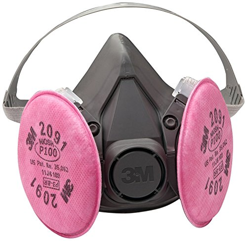 3M Half Facepiece Reusable Respirator Assembly 6391/07003(AAD), P100 Respiratory Protection, Large (Assembly Gas Respirator)
