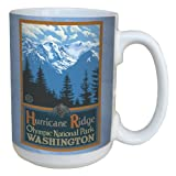 Tree-Free Greetings lm43103 Scenic Olympic National Park Washington Hurricane Ridge by Paul A. Lanquist Ceramic Mug, 15-Ounce, Multicolored