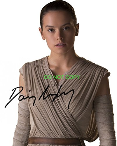Daisy Ridley As Rey Reprint Signed Autographed Photo  2 Star Wars Force Awakens Rp