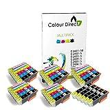 35 (5 Sets + 5 Black ) Colour Direct Compatible Ink Cartridges Replacement For Epson Expression Photo XP-55 XP-750 XP-760 XP-850 XP-860 XP-950 XP-960 24XL