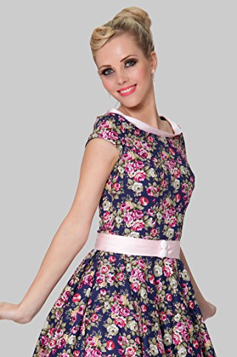 SEXYHER Ladies 1950's Vintage Style Delicate Scoop Neck Classic Dress Photo #5