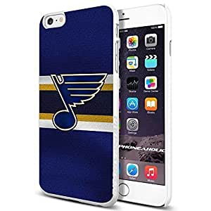Hockey NHL St. Louis Blues logo, , Cool iPhone 6 Plus (6+ , 5.5 Inch) Smartphone Case Cover Collector iphone TPU Rubber Case White [By PhoneAholic] by runtopwell