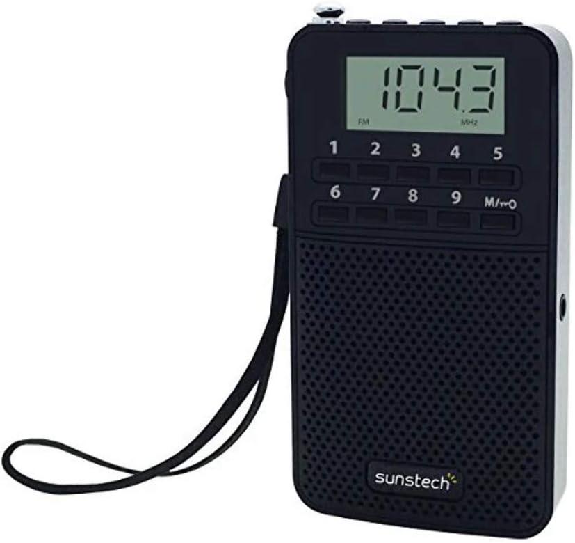 Sunstech RPDS81 - Radio portátil Digital Am/FM con Altavoz Integrado y función Sleep, Color Negro: Amazon.es: Electrónica
