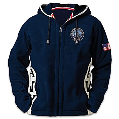 United States Navy Pride Men's Hoodie With US Flag by The Bradford Exchange