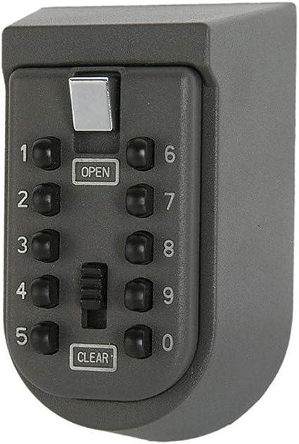 Caja de Seguridad Para Llaves con Combinación de Botones Pulsadores de 10 Dígitos; Perfecta para huéspedes, Inquilinos, Agentes Inmobiliarios: Amazon.es: Bricolaje y herramientas