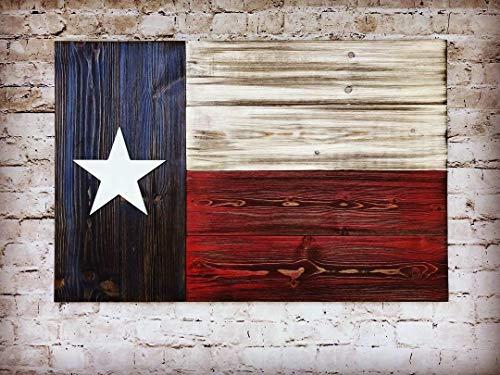 (Texas Wooden Flag, Wooden Texas Flag Wall Decor, Texas State Flag On Wood Wall Art, Texas Flag Decor, Rustic Wood Texas Flag, USA Wooden)