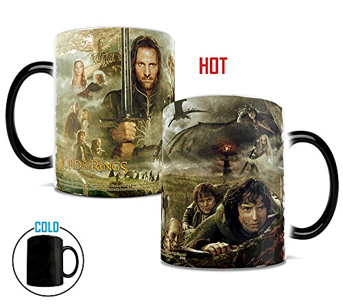 Morphing Mugs Lord of the Rings (Collage) Ceramic Mug, Black