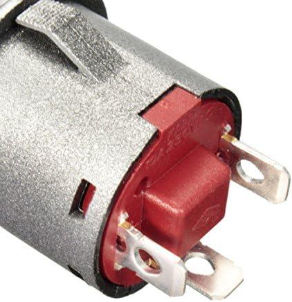 Queenwind 2個の12V 22Mmは自動ロック力押しボタンオン/オフスイッチ緑を導きました