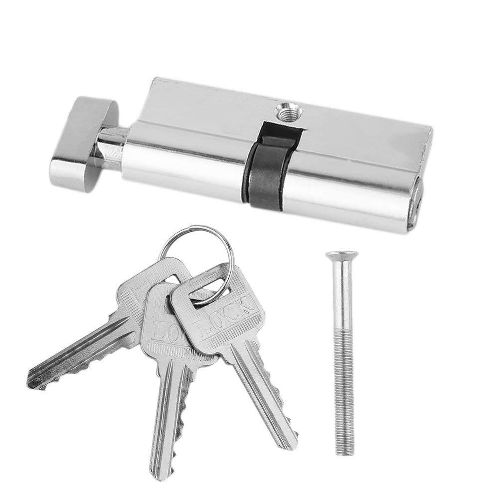 Oyamihin 70mm Aluminium Metall T/ür Schlie/ßzylinder Home Security Anti-Snap Anti-Bohrer Mit 3 Tasten Silber Ton Set Werkzeuge