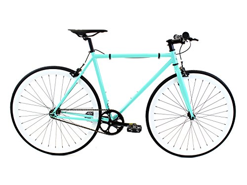 Golden Cycles Fixed Gear Bike Steel Frame Fixie with Deep V Rims Collection (Breeze, 45)