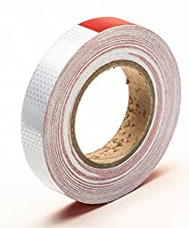 Red White Honeycomb reflective tape 1\