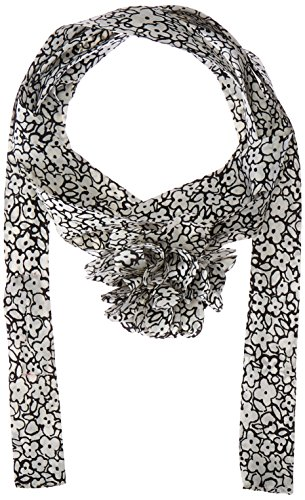 Betsey Johnson Women's Cartoon Floral Skinny Scarf