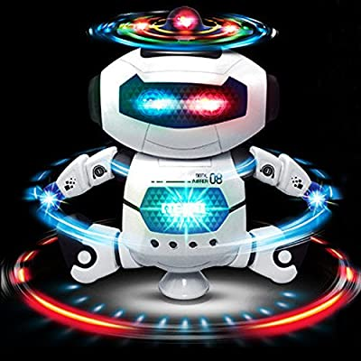 Electronic Dancing Robot Toys Gift for Children   Space Robot Astronaut with Flashing Lights and Music