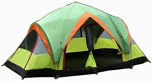 ASDAD Tienda De Campaña Camping Exterior Viajes De Dos Habitaciones Polos Estructura De Apertura Rápida Tienda para 5-8 Personas Totalmente Automática Capa Doble Refugio 400 * 210 * 170 Cm: Amazon.es: Jardín