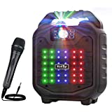 VerkTop Karaoke Machine,Portable PA System Rechargeable Wireless Bluetooth Speaker for Kids & Adult with Disco Ball & Wired M