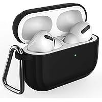 Baaletc bloemenmotief ontwerp AirPods Pro Case, Zachte Silicone Volledige Beschermende Schokbestendige Cover met Sleutelhanger Set Compatibel voor Apple AirPods Pro (Front LED Zichtbaar), Airpods pro case-Black