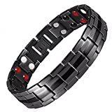 Mens Best Ion Bracelet ALL SIZES Germanium Titanium Negative Ion Magnetic Bracelet for Arthritis Therapy Health Energy Balance Bracelet +Gift Box-BT4 (20 cm / 7.9 in)