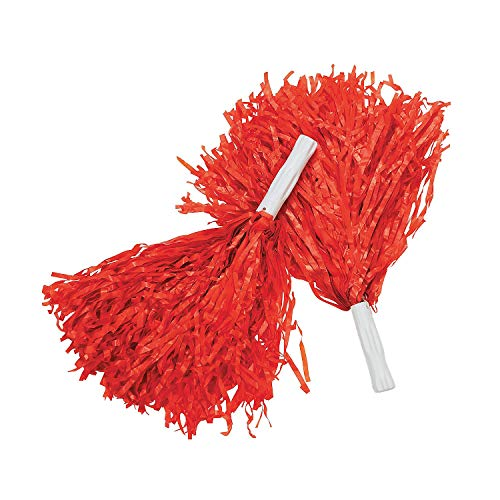 Fun Express Red Cheerleading Pom Poms - 12 Pieces ()