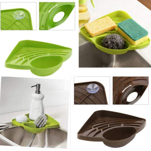 Sink Corner Storage Rack Sponge Holder Wall Mounted Bathroom Soap Dish - Sponge Holder