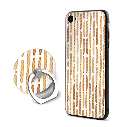 Baguette Bread Soft PC iPhone Case for iPhone 8 iPhone 7 with Phone Stand (Sides Baguette Ring)