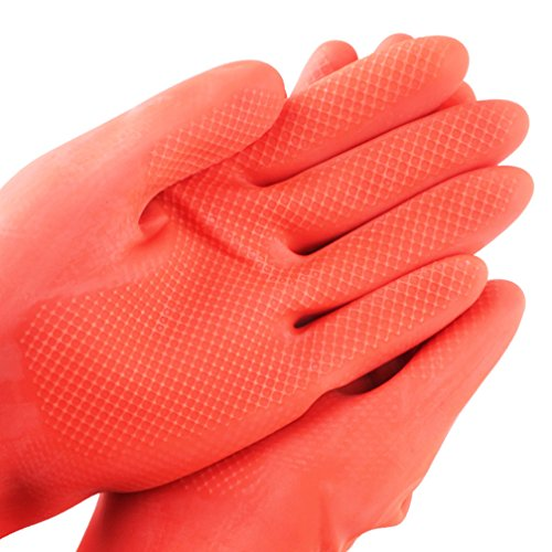 SYROVIA Wholesale Reusable Waterproof Household Gloves All Purpose Cleaning Long Glove Kitchen Natural Rubber Living Wash Gloves by SYROVIA (Image #3)