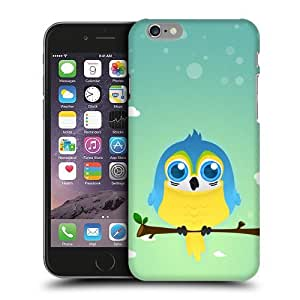 Case Fun Blue & Yellow Macaw Parrot by DevilleART Snap-on Hard Back Case Cover for Apple iPhone 6 Plus (5.5 inch)