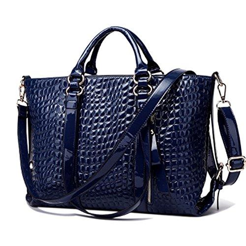 blue Portátil GUANGMING77 Invierno Satchel Hombro Bag Lichi Portátil Todo Bag Match Hombro Azul qwqzU7aF