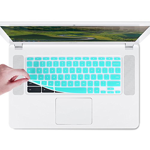 Chromebook Keyboard Cover for 11.6' Acer Chromebook R 11 CB5-132T, 15.6' Acer Chromebook 15 CB5-571 Series, C910 Series, CB3-531 Series US Layout (NOT FIT FOR CB3-111 Series) (Hot Blue)