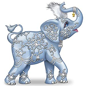 Thomas Kinkade Collectible Elephant Figurine With Swarovski Crystal by The Hamilton Collection
