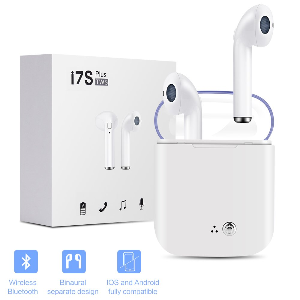 Bluetooth Headphones,Yagfxan Mini Wireless Sports Earphone/Stereo-Ear Sweatproof Earphones with Noise Cancelling and Charging Case Fit for Samsung Galaxy S8 Plus iPhone X/8/7/6s Plus Bluetooth Earbuds