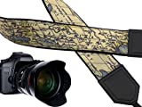 Vintage world map premium quality camera strap for Nikon/Canon/Samsung/Fuji Film and other standard cameras with classic designs and colors.