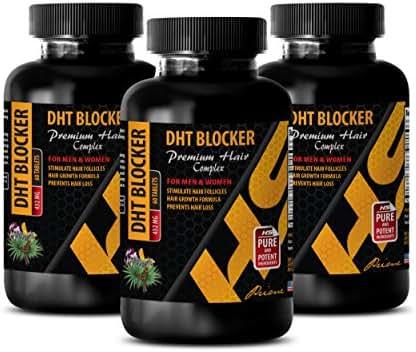hair supplement for women - DHT BLOCKER - PREMIUM HAIR COMPLEX - FOR MEN AND WOMEN - saw palmetto capsules for women - 3 Bottles 180 Tablets