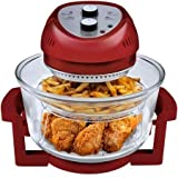 1300 Watts, Energy Efficient, 6-Quart Oil-Less Fryer, Red by Big Boss