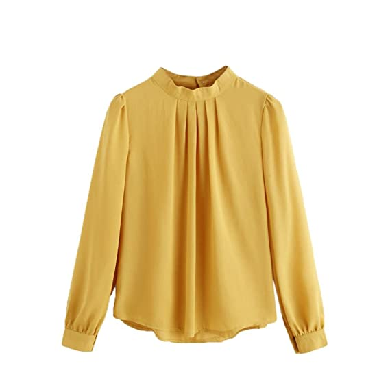 Lenfesh Blusa Camisetas Gasa Mujer Manga Larga Camisa Elegante Suelta Moda Shirt Tops Para Verano 2018