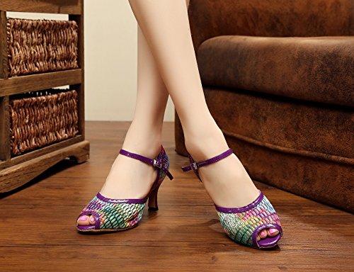 Miyoopark , Salle de bal femme - Violet - Purple-7.5cm Heel, 35 EU EU