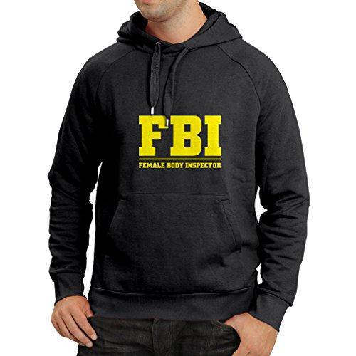 パーカー女性のボディインスペクタ - FBI - ジョーク引用、面白いスローガン