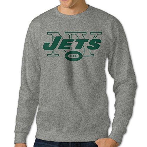 [U9 Men's New York NY Logo Jets Crew-Neck Sweat Shirt] (Makers Mark Costume)